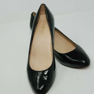 COLE HAAN black patent leather 2.5 inch heels
